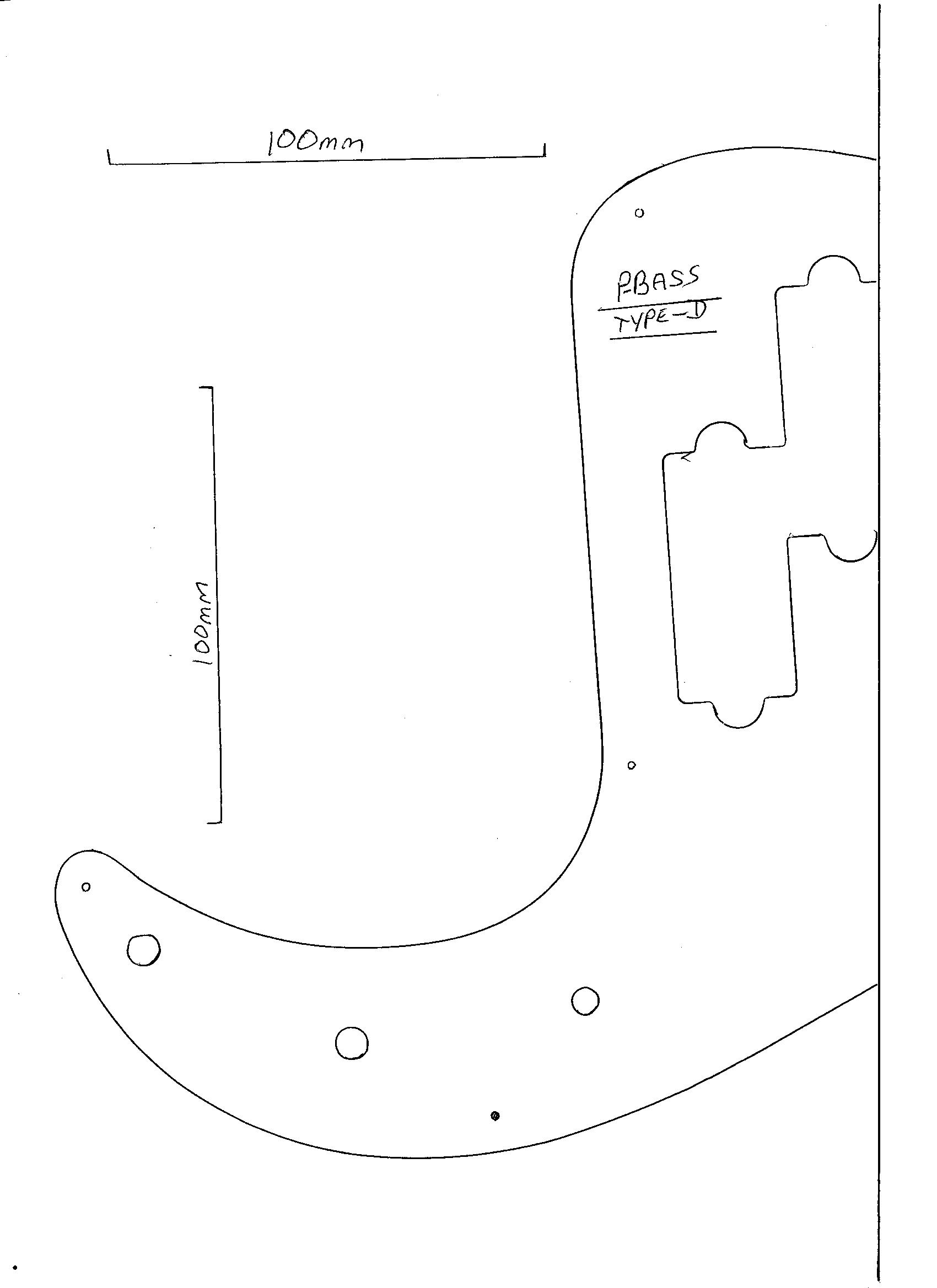 jazz bass pickguard template - p bass guitar dimensions template pictures to pin on