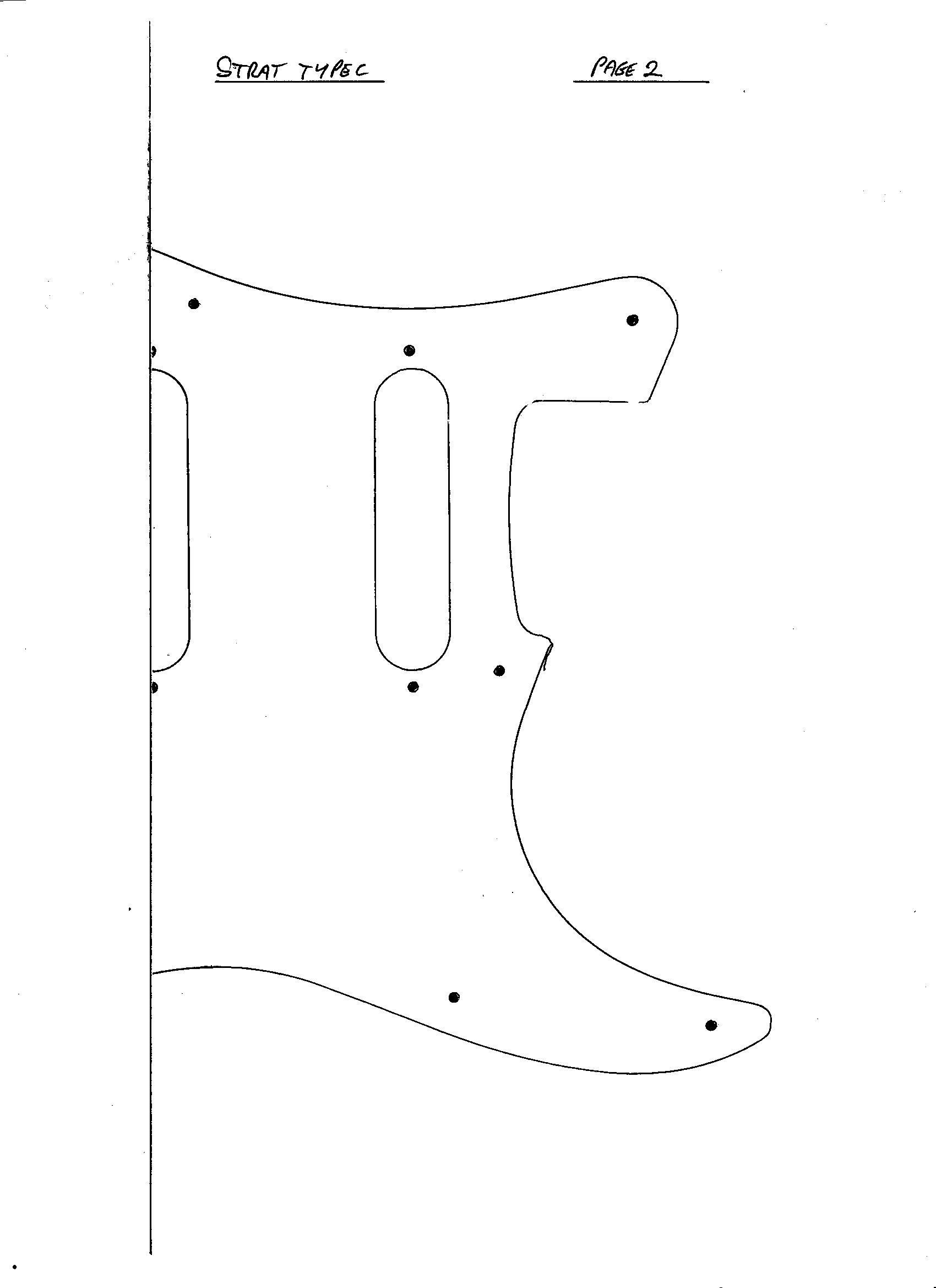 Derang Guitar Pick Up Templates Learn How