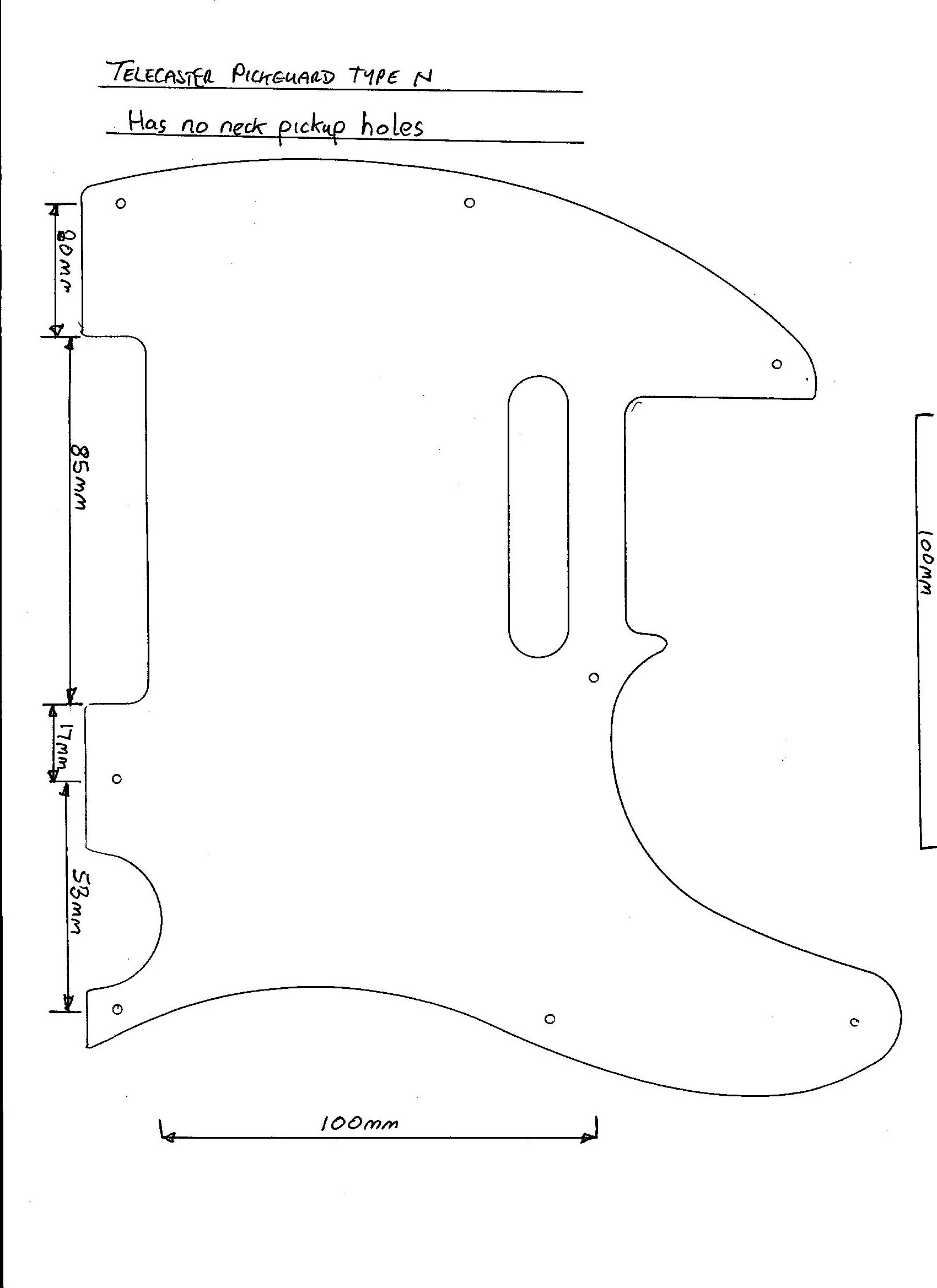Guitar templates telecaster | norwegian wood