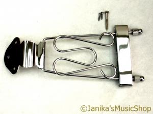 Chrome trapeze semi-acoustic jazz guitar tail piece 6 string